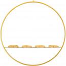 hurtownia Dekoracje: Metalowy pierścień Pyro, z 4 świecznikami, D60cm,